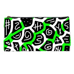 Green Playful Design Pencil Cases by Valentinaart