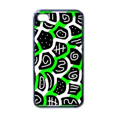 Green Playful Design Apple Iphone 4 Case (black) by Valentinaart