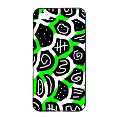 Green Playful Design Apple Iphone 4/4s Seamless Case (black) by Valentinaart