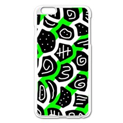 Green Playful Design Apple Iphone 6 Plus/6s Plus Enamel White Case by Valentinaart