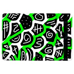 Green Playful Design Ipad Air 2 Flip by Valentinaart