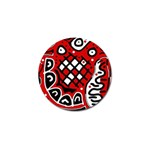 Red high art abstraction Golf Ball Marker (4 pack) Front