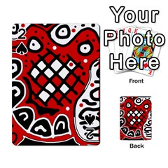Red High Art Abstraction Playing Cards 54 Designs  by Valentinaart