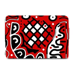 Red High Art Abstraction Plate Mats by Valentinaart
