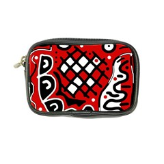 Red High Art Abstraction Coin Purse by Valentinaart