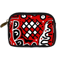 Red High Art Abstraction Digital Camera Cases by Valentinaart