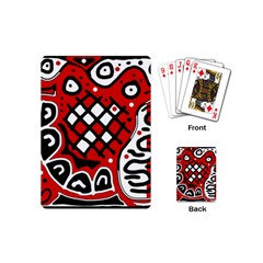 Red High Art Abstraction Playing Cards (mini)  by Valentinaart