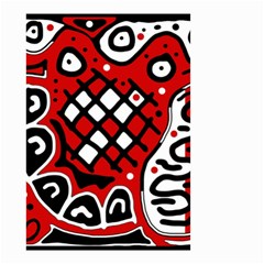 Red High Art Abstraction Small Garden Flag (two Sides) by Valentinaart