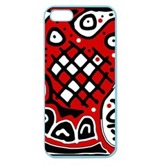 Red High Art Abstraction Apple Seamless Iphone 5 Case (color) by Valentinaart