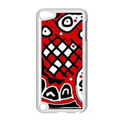 Red High Art Abstraction Apple Ipod Touch 5 Case (white) by Valentinaart
