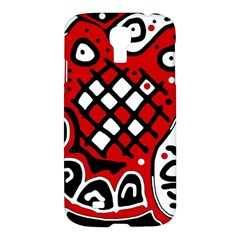 Red High Art Abstraction Samsung Galaxy S4 I9500/i9505 Hardshell Case by Valentinaart