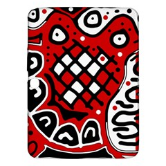 Red High Art Abstraction Samsung Galaxy Tab 3 (10 1 ) P5200 Hardshell Case  by Valentinaart