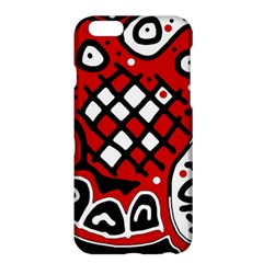 Red High Art Abstraction Apple Iphone 6 Plus/6s Plus Hardshell Case by Valentinaart