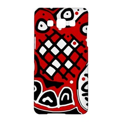 Red High Art Abstraction Samsung Galaxy A5 Hardshell Case  by Valentinaart