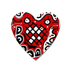 Red High Art Abstraction Heart Magnet