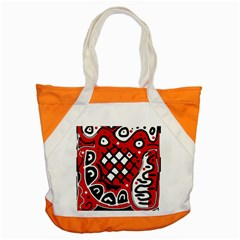 Red High Art Abstraction Accent Tote Bag by Valentinaart