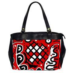 Red High Art Abstraction Office Handbags (2 Sides)  by Valentinaart