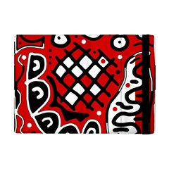 Red High Art Abstraction Apple Ipad Mini Flip Case by Valentinaart