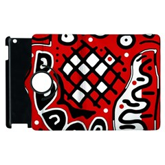 Red High Art Abstraction Apple Ipad 2 Flip 360 Case by Valentinaart