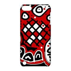 Red High Art Abstraction Apple Ipod Touch 5 Hardshell Case With Stand by Valentinaart