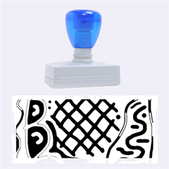 Cyan High Art Abstraction Rubber Stamps (large) by Valentinaart