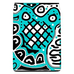 Cyan High Art Abstraction Flap Covers (l)  by Valentinaart
