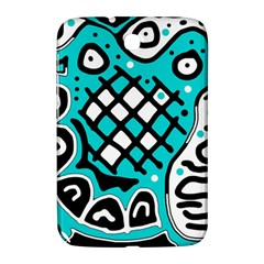 Cyan High Art Abstraction Samsung Galaxy Note 8 0 N5100 Hardshell Case  by Valentinaart