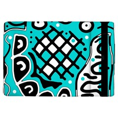 Cyan High Art Abstraction Ipad Air Flip by Valentinaart