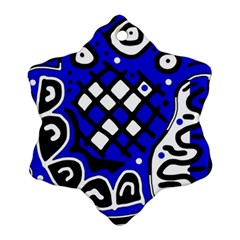 Blue High Art Abstraction Ornament (snowflake)