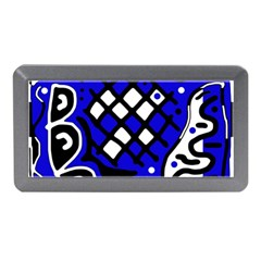 Blue High Art Abstraction Memory Card Reader (mini) by Valentinaart