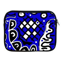 Blue High Art Abstraction Apple Ipad 2/3/4 Zipper Cases by Valentinaart