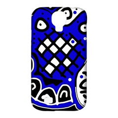 Blue High Art Abstraction Samsung Galaxy S4 Classic Hardshell Case (pc+silicone) by Valentinaart
