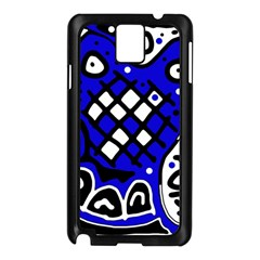 Blue High Art Abstraction Samsung Galaxy Note 3 N9005 Case (black) by Valentinaart