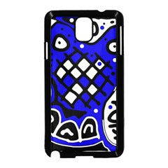 Blue High Art Abstraction Samsung Galaxy Note 3 Neo Hardshell Case (black) by Valentinaart