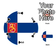 State Flag Of Finland  Playing Cards 54 (round)  by abbeyz71
