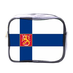 State Flag Of Finland  Mini Toiletries Bags by abbeyz71