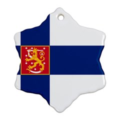 State Flag Of Finland  Snowflake Ornament (2 Side) by abbeyz71