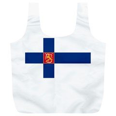 State Flag Of Finland  Full Print Recycle Bags (l)  by abbeyz71