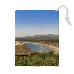 Landscape Aerial View Piriapolis Uruguay Drawstring Pouches (extra Large) by dflcprints