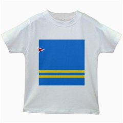 Flag Of Aruba Kids White T Shirts