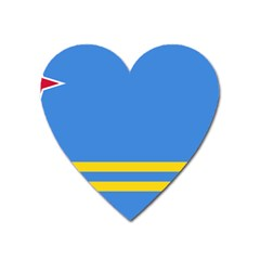 Flag Of Aruba Heart Magnet by abbeyz71