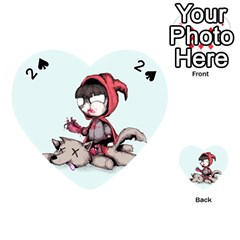 Bad Bitch Red Playing Cards 54 (heart)  by lvbart