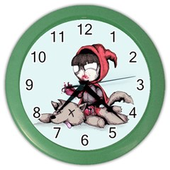 Bad Bitch Red Color Wall Clocks by lvbart