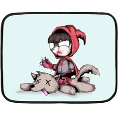 Bad Bitch Red Double Sided Fleece Blanket (mini)  by lvbart