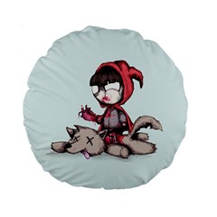 Bad Bitch Red Standard 15  Premium Flano Round Cushions by lvbart