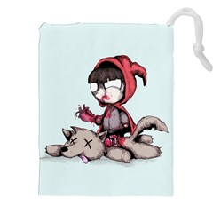 Bad Bitch Red Drawstring Pouches (xxl) by lvbart