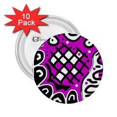 Magenta High Art Abstraction 2 25  Buttons (10 Pack)  by Valentinaart