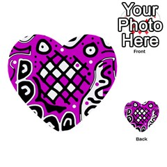 Magenta High Art Abstraction Multi Purpose Cards (heart)