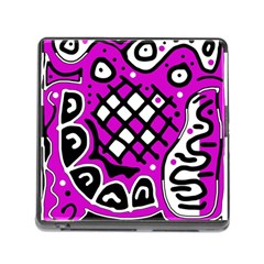 Magenta High Art Abstraction Memory Card Reader (square)