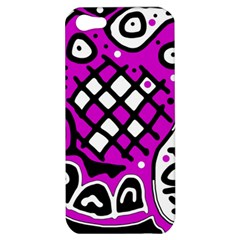 Magenta High Art Abstraction Apple Iphone 5 Hardshell Case
